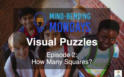 Mind-Bending Monday:  Visual Puzzles Episode 2:  How Many Squares?