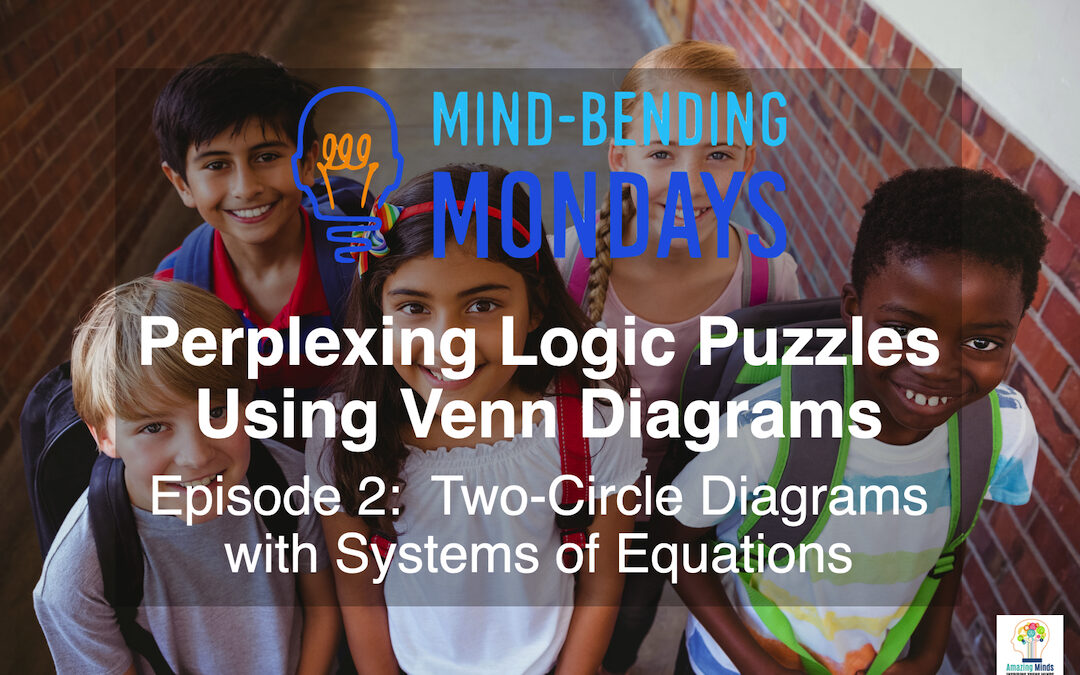 Perplexing Logic Puzzles Using Venn Diagrams Episode 2:  Two Circle Venn Diagrams with Systems of Equations